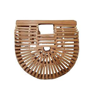 Bolsa de Bambu com Alça de Mão 27cm