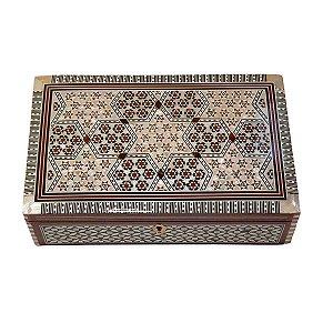 Caixa Decorativa de Madeira Egípcia 26,5cm