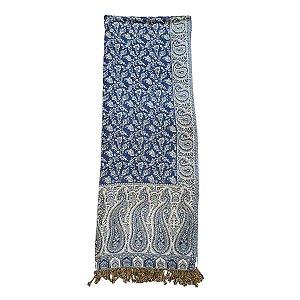 Echarpe Indiana Estampada 100% Viscose 70cmx180cm (Azul)