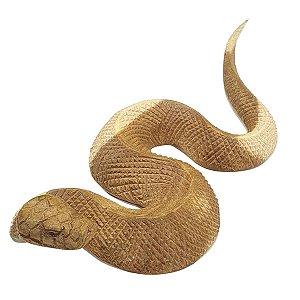 Escultura de Cobra de Madeira 30cm
