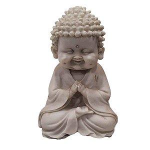 Estátua de Baby Buda de Pó de Mármore Mudra Oração 14cm