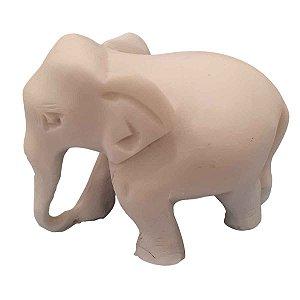 Mini Elefante Indiano de Pó de Mármore Tromba p/ Baixo 6cm