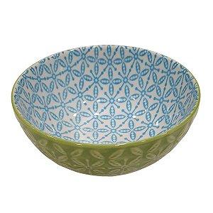 Bowl de Cerâmica Verde e Azul (Modelo 4) 11cm