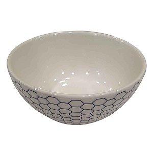Bowl de Cerâmica Branco Colméia (Modelo 1) 13,5cm