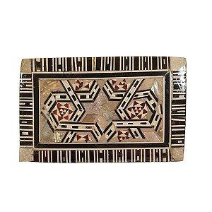 Caixa Decorativa de Madeira Egípcia 9,5cm (Modelo 1)