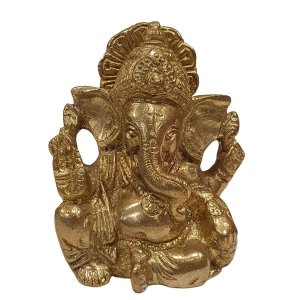 Mini Estátua de Ganesha de Bronze 7cm