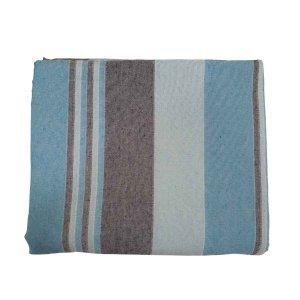 Colcha Indiana Kerala 100% Algodão Azul Bebê 2,30mx2,10m