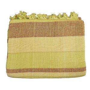 Colcha Indiana Kerala 100% Algodão Verde Solteiro
