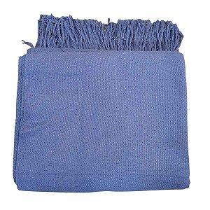 Manta Tibau Casal Larga Azul 2.50x2.10m
