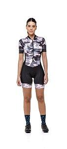 Macaquinho Ciclismo Feminino  Strong Life- Estampado - Camuflado S229-78