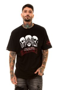 CAMISETA OVER THREE SKULLS