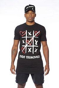 Camiseta Retro Jogo da Velha Preto