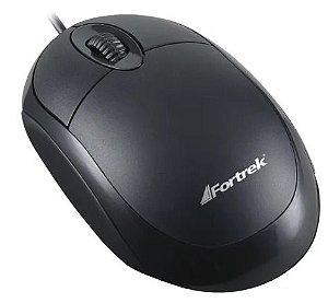 Mouse Óptico Fortrek OML101 800DPI Preto