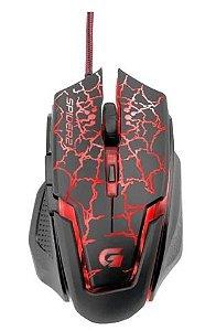 Mouse Gamer Fortrek Spider 2 OM705 Preto e Vermelho