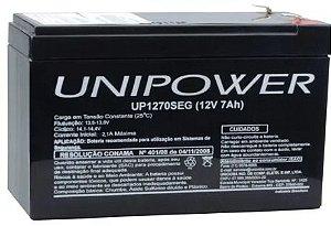 Bateria Selada Unipower 12V/7Ah SEG 1270 NAC