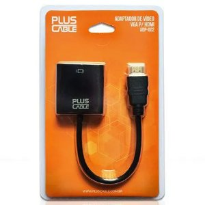 Adaptador HDMI para VGA Plus Cable ADP-002BK