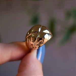 Anel ajustável trabalhado ouro semijoia
