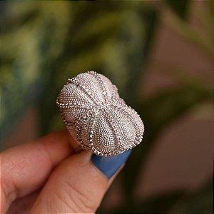Anel zircônia ródio semijoia
