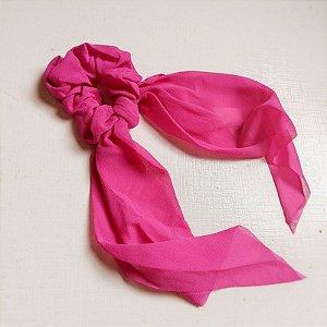 Elástico para cabelo scrunchie liso pink