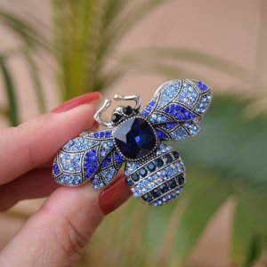 Broche magnético abelha azul g