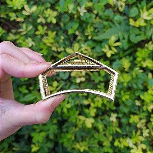 Piranha de cabelo vazada metal dourado