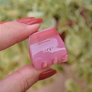 Piranha de cabelo francesa Finestra strass rosa claro N748LR/2sOP-R