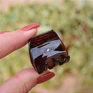 Piranha de cabelo francesa Finestra strass marrom tartaruga N748/2s