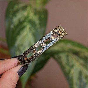 Presilha retangular francesa Finestra glitter dourado V2467GLI