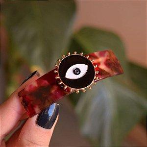 Presilha acrílico vermelho olho grego