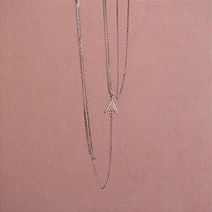 Colar Body Chain Leticia Sarabia cristal prateado
