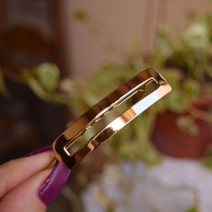 Presilha para franja retangular dourado