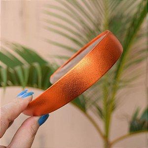 Tiara metalizada laranja