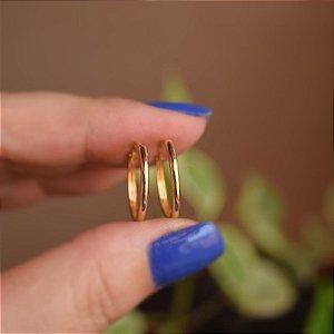 Brinco argolinha lisa p ouro semijoia