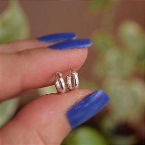 Brinco mini argolinha segundo furo prata 925