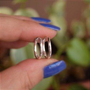 Brinco argolinha lisa p prata 925