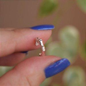 Piercing de encaixe individual prata 925