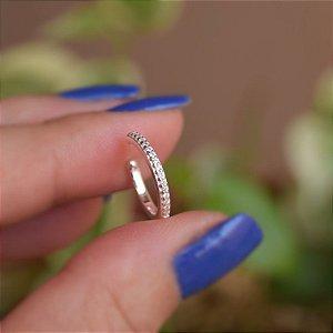Piercing de encaixe individual zircônias prata 925