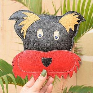 Bolsa de mão couro cachorrinho infantil