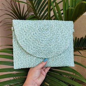 Bolsa carteira palha verde