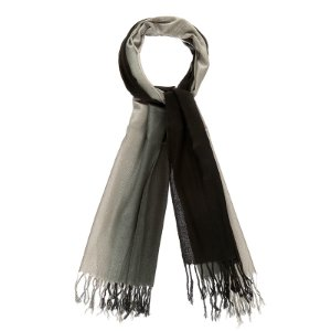 Pashimina viscose bicolor preto e cinza Pas 003