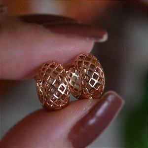 Brinco argolinha m ouro rosê 19A10037