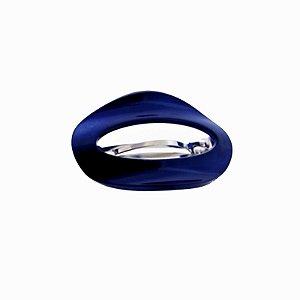 Presilha oval francesa Finestra vazada azul F2809-NAVY
