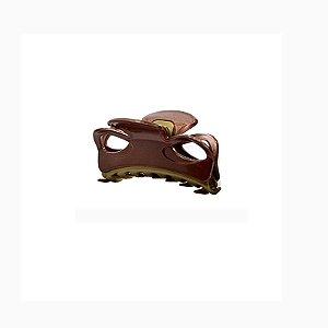 Piranha de cabelo francesa Finestra marrom e dourado F2844MBO
