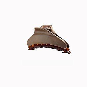 Piranha de cabelo francesa Finestra marrom e dourado F2841BGBT