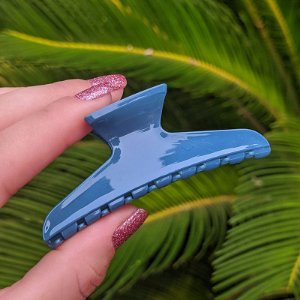 Piranha de cabelo francesa Finestra azul F22941OP-AZ