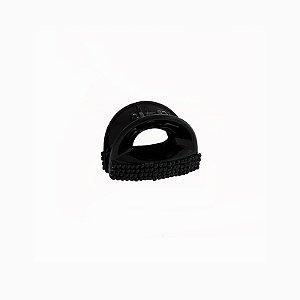 Piranha de cabelo acrílico cristal preto vazado