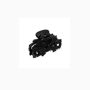 Piranha de cabelo acrílico cristal preto