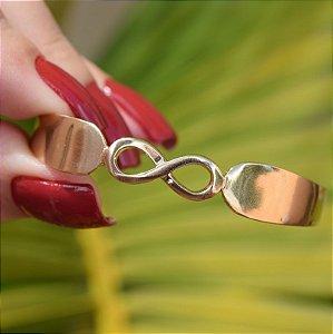 Bracelete infinito ouro semijoia