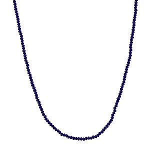 Colar longo cristal azul semijoia