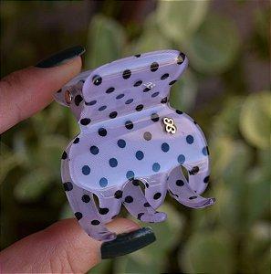 Piranha de cabelo Bianca Poá  Preto 05 002